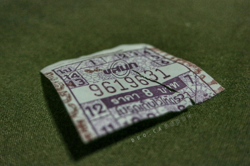 Thai bus ticket. 8 baht.