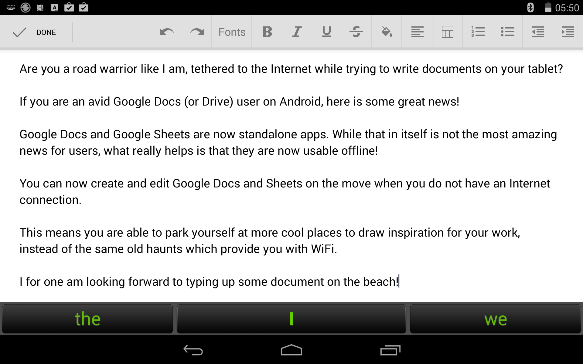 how to write around an imagin in google docs