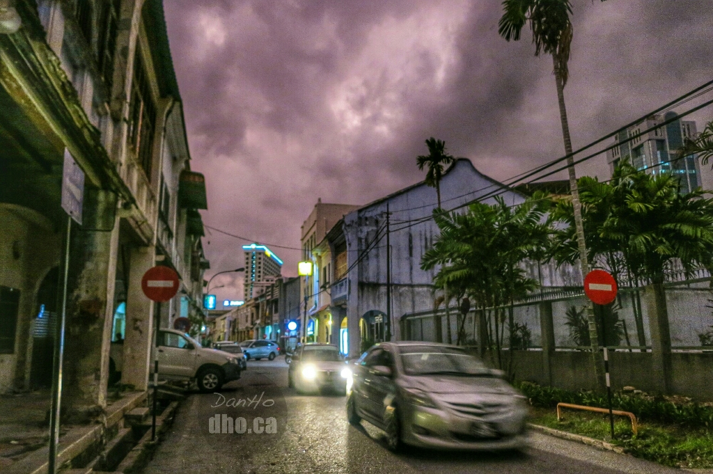Before the storm on Muntri Street, Penang, Malaysia.