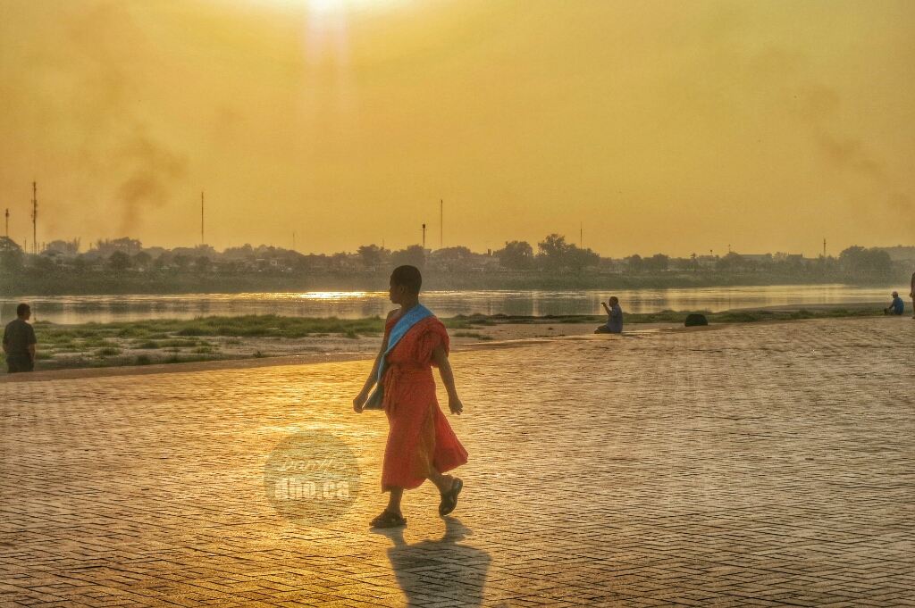 The Mekong river provides the locals in Vientiane an excellent place to see the sun set over Nong Kai, Thailand.