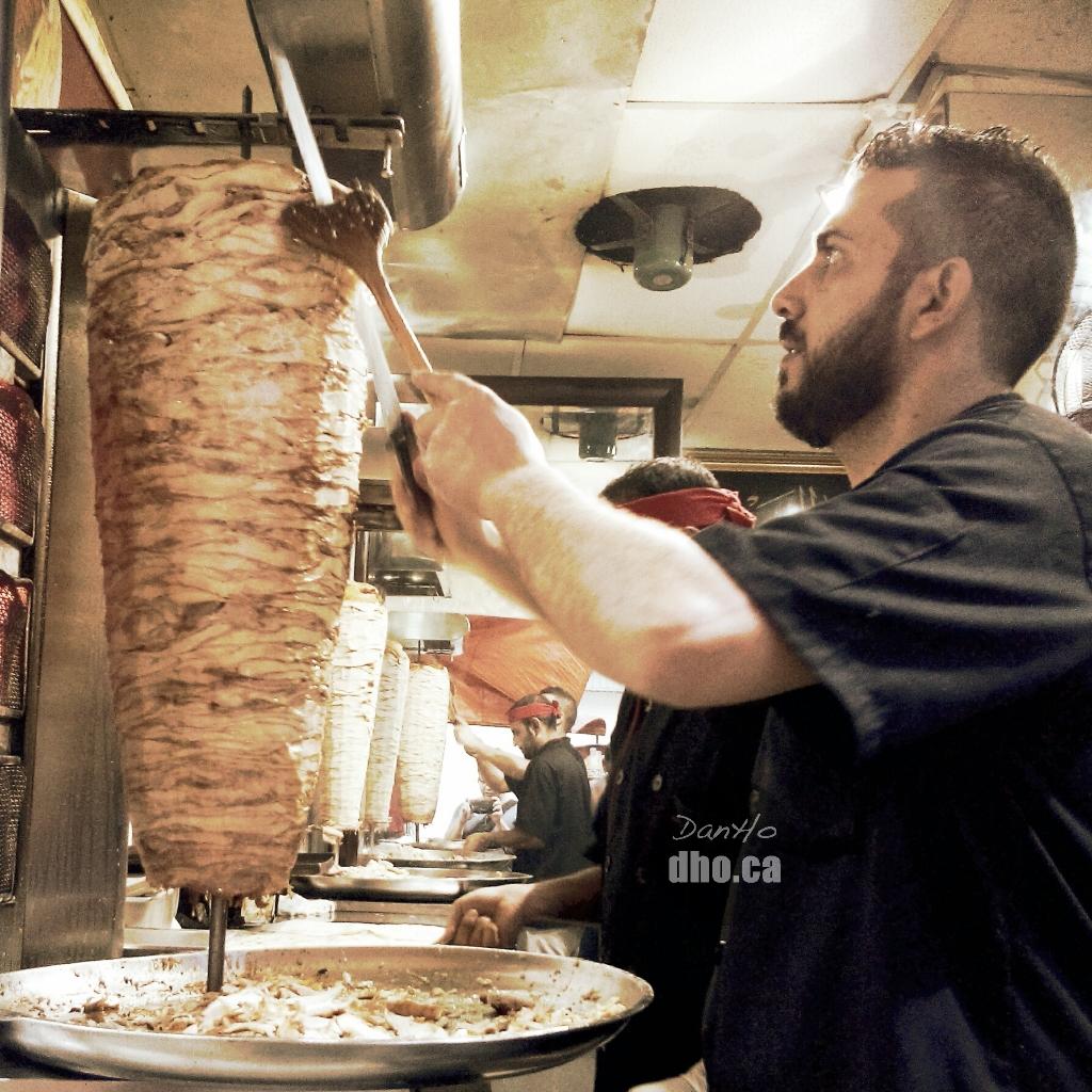 Delicious shawarma on Jalan Berangan in Kuala Lumpur Malaysia